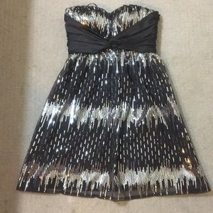 Black and Silver Sequin Jessica Simpson Dress